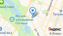 Гатчина на карте