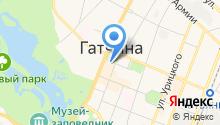 Мой город Гатчина на карте