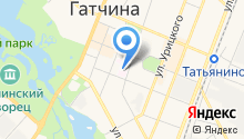 Узловая железнодорожная поликлиника на ст. Гатчина на карте