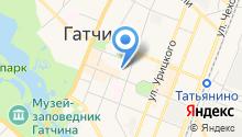 Станция по борьбе с болезнями животных Гатчинского района, ГБУ на карте