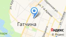 Отдел Военного комиссариата Ленинградской области по г. Гатчина и Гатчинскому району на карте