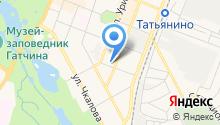 Прачечная на ул. Леонова на карте