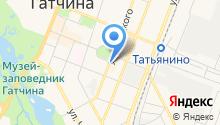 Магазин женской одежды и нижнего белья на ул. Урицкого (Гатчинский район) на карте