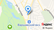 Сеть магазинов на карте