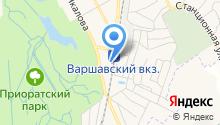 Варшавский экспресс на карте