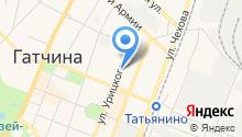 Гатчина. Район на карте