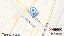 Управление Пенсионного фонда РФ в г. Гатчине и Гатчинском районе на карте