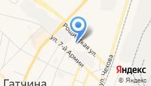 Управление Пенсионного фонда РФ в Гатчинском районе на карте