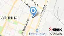 Гатчинская средняя общеобразовательная школа №1 на карте