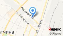 Автостоянка на ул. 7 Армии на карте