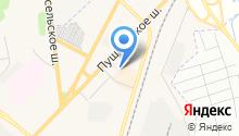 Пушкинское шоссе на карте