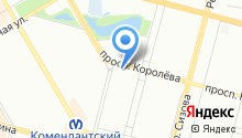 Сеть салонов-парикмахерских на карте