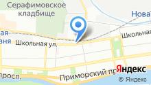 Администрация Приморского района Санкт-Петербурга на карте
