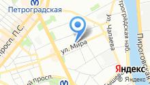 1025 УНР, ЗАО на карте