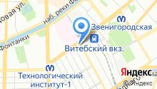2 отряд ФПС по г. Санкт-Петербургу на карте