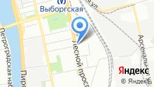 1 отряд ФПС по г. Санкт-Петербургу на карте