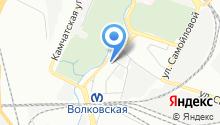 10 отряд ФПС по г. Санкт-Петербургу на карте