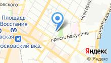 14 отряд ФПС по г. Санкт-Петербургу на карте