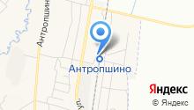 Антропшино на карте
