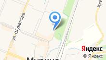 Охтинская дуга на карте