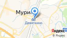 Станция Девяткино на карте