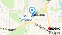 Токсово на карте