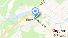 Автомойка на Приютинской на карте