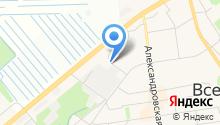 Автостоянка на ул. Олениных на карте