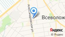 Магазин обувной косметики на Александровской (Всеволожский район) на карте
