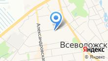 Магазин обуви на Ленинградской (Всеволожский район) на карте