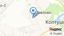 Колтушская средняя общеобразовательная школа им. академика И.П. Павлова на карте