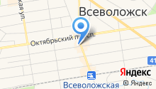 Магазин автозапчастей на Всеволожском проспекте на карте