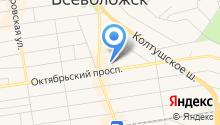Управление Пенсионного фонда РФ во Всеволожском районе на карте