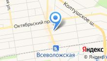 Отдел судебных приставов по Всеволожскому муниципальному району на карте