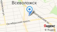 128 отдел полиции Управления МВД Всеволожского муниципального района на карте