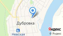 Дубровка на Неве на карте
