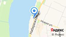 Магазин хлебобулочных изделий на Набережной на карте