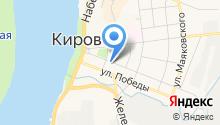 Кировская детская библиотека на карте
