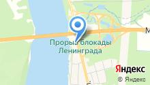 Магазин строительных товаров у Ладожского моста на карте