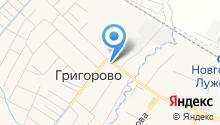Автостоянка на Центральной на карте