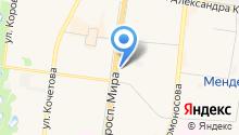 Akriland на карте