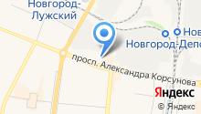 1 отряд ФПС по Новгородской области на карте