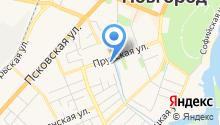 Автостоянка на Прусской на карте