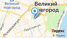 Аничков на карте