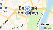 Аппарат уполномоченного по правам ребенка в Новгородской области на карте