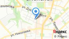 Управление областных автомобильных дорог Смоленской области на карте