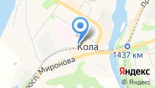 Тулома на карте