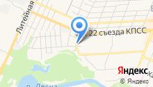 Автостоянка на ул. 22 Съезда КПСС на карте