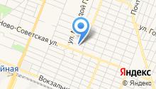Автостоянка на ул. Азарова на карте