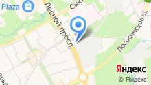 Автомойка на Лесном проспекте на карте